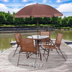 4 Places Bistro Set Garden Furniture Patio Bistro Tables Rondes Avec Parasol