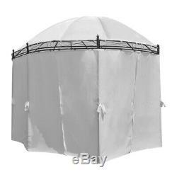 4x3m Gazebo Métal Pavillon De Jardin Tente Canopy Sunshade Abri Marquee Mur Latéral