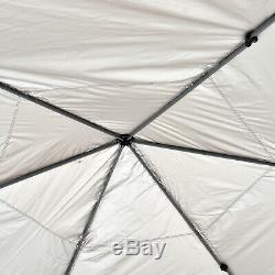4x4m Jardin Gazebo Tente D'extérieur En Métal Réglable Avec Pare-soleil Net Zippered