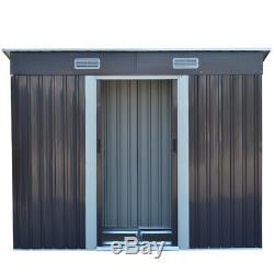 4x8ft De Jardin En Métal Shed Extérieur Local À Vélos Sheds De Vélos Magasin Maison Gratuit Base De