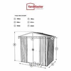 6 X 8 Abris Métalliques Pour Jardins Abris Yardmaster Storage, 6 Pi X 8 Pi Apex