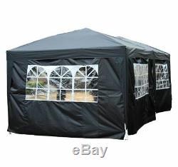 6m X 3m Black Garden Heavy Duty Tente De Mariage De Chapiteau De Tente De Fête De Chapiteau