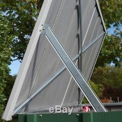 6x3 Metal Magasin Jardin Storette Caravane Hangar Double Porte Prelaque Levée Couvercle