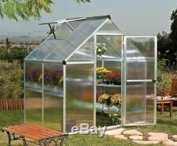 6x4 Palram Mythos Serre Metal Aluminium Glasshouse Green House Jardin Des Plantes