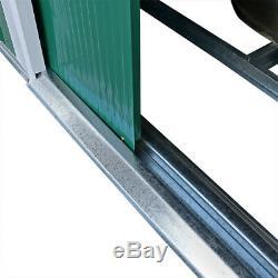 8.6 X 6ft Vert Metal Acier Jardin Hangar Extérieur Outil Panneau De Stockage Bike Wido