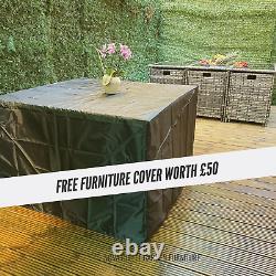 8 Seater Rattan Garden Meubles De Salle À Manger Cube Set Table Canapé Chaise Extérieur Patio
