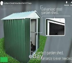 844 Métal Apex Yardmaster Green Garden Shed Taille Externe Maximum 6'8x 4' 6