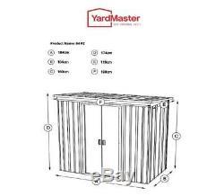 845 Yardmaster Pent Abri De Jardin En Métal Dimensions Extérieures Max 6'6 W X 3'11 D