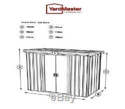 898 Yardmaster De Jardin En Métal Magasin Taille Maximale Externe 6'6w X 3'11d X 4'4h