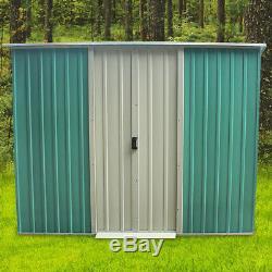 8x4' , 8x6' , 8x8' , 8x10' Heavy Duty De Jardin En Métal Hangar De Stockage Garage Maison D'extérieur