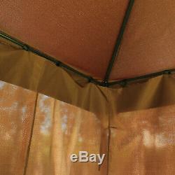 Abri Couvert D'auvent De Tente De Partie De Patio De Chapiteau En Métal De Jardin De Jardin De 3x4m Avec Le Toit À 2 Niveaux
