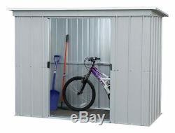 Abri De Jardin En Métal 6x4ft Vélo Rangementplomberie Verrouillage Patio Extérieur En Acier Robuste