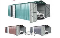 Abri De Jardin En Métal Garage De Stockage Extérieur Garage Voiture Atelier De Moto 5x3m