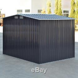 Abri De Jardin En Métal Maison 6x4, 8x4, 8x6ft, 10x8ft Shed Acier Base Cadre Galvanisé