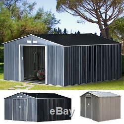 Abri De Jardin Stockage Grand Bâtiment De Toit En Métal Porte Cour Magasin Boîte À Outils Container