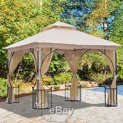 Abri De Tente De Jardin Extérieur De Patio Extérieur De Belvédère De Gazebo De 3 X 3m De Outsunny, Beige