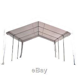 Abri De Voiture De Tente De Garage D'abri De Voiture De Chapiteau De Jardin De Chapiteau De Jardin De 4m X De 6m Blanc