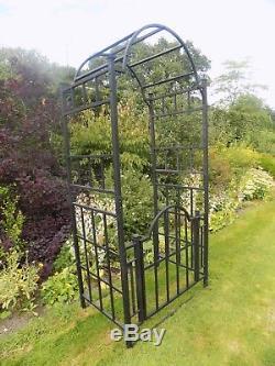 Arche De Jardin En Métal Robuste Avec Porte Et Portail Voûtés