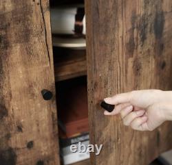 Armoire Latérale Industrielle Buffet En Verre Vintage Rustic Metal Hall Console Table