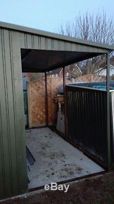Atelier Ou Garage En Métal Pour Voiture, Remise De Moto, Équipement De Jardin 17x12ft