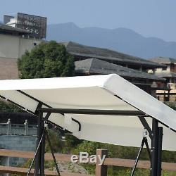 Balancelle Hamac Siège Lit Réglable Jardin Canopy Mobilier D'extérieur En Métal