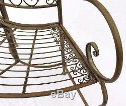 Banc Jc112287 Fabriqué À Partir De Banc De Jardin En Métal Siège Banc Arbre 2-seater 135cm Rond