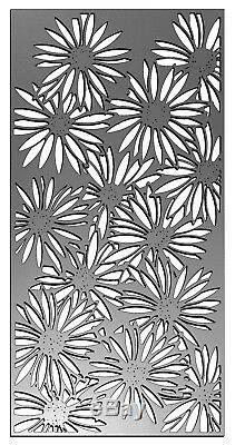 Belle 1,8m (6 Pieds) De Haut Noyau DIX Jardin En Acier Rustique Marguerites Clôture Écran Design