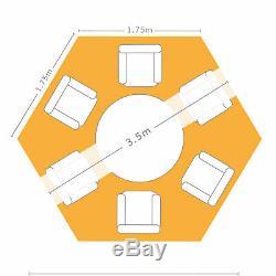 Belvédère De Jardin Hexagonal Airwave De 3,5 M Avec Chapiteau Étanche Pour Sac De Transport