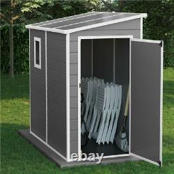 Billyoh Newport Lean À Plastique Jardin Extérieur Rangement Shed Grey Floor Inclus