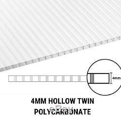 Billyoh Polycarbonate Aluminium Metal Frame Appentis De Jardin Serre Plante Pousse