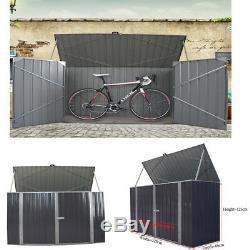 Boîte De Bicyclette De Garage De Garage De Cabinet De Stockage D'outil Extérieur Durable De Vélo De Jardin En Métal