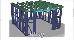 Cadre En Métal De Bâtiment De Jardin, Hangar Worksop Chambre D'acier De Maison D'été -différentes Tailles