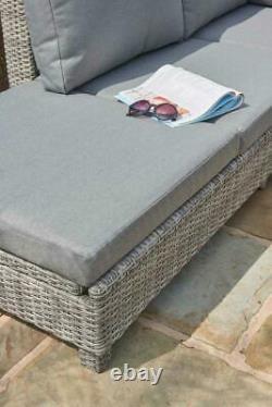 Canapé D'angle Chaise Longue En Rotin En Osier Jardin De Luxe Bahama 5 Ans De Garantie