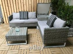 Canapé D'angle De Jardin En Rotin Avec Rangement