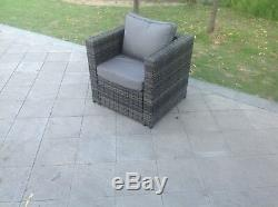 Canapé D'angle En Rotin Dînette Table Basse Mobilier De Jardin En Plein Air MIX Grey