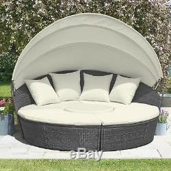 Canapé-lit À Baldaquin Extérieur En Rotin