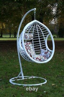 Chaise D'oeuf Suspendue De Oscillation Avec Le Jardin Extérieur De Patio De Coussin Meubles Extérieurs De Rotin De Pe