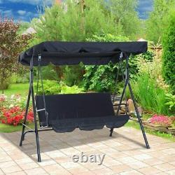 Chaise De Balançoire En Métal De Jardin 3 Seater Hammock Patio Canopy Banc Louncer Lonenessl