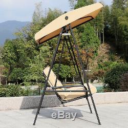 Chaise De Jardin Avec Balançoire Hamac 2 Places À Assise Rembourrée
