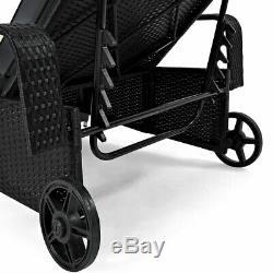 Chaise Inclinable Extérieure De Patio De Meubles De Jardin De Lit De Jour De Lit De Rotin Poly