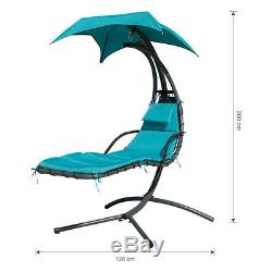 Chaise Longue Suspendue Hamac Chaise Lounge Balançoire Extérieure À Baldaquin Jardin Jardin Uk