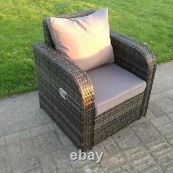 Chaise Simple Inclinable Rattan Arm Patio Meubles De Jardin D'extérieur Avec Coussin