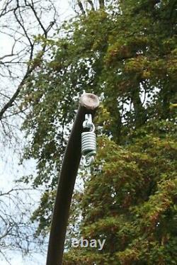 Chaise Suspendu De Jardin Hammocks Swing Egg Chaise Pole Frame Stand Brown