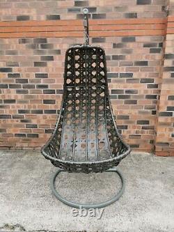 Chaise Swing D'oeuf De Lune De Rotin Pour Le Jardin Et L'usage Intérieur Tout Neuf