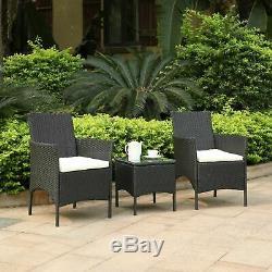 Chaises De Jardin De Rotin 3pcs Réglées Dinant Des Chaises Et Des Meubles Extérieurs De Table Basse