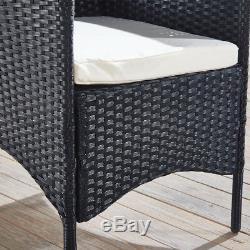 Chaises En Rotin Mobilier De Jardin Chaise De Jardin 4 Set Chaises De Jardin Extérieures Noir