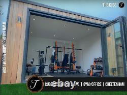 Chambre De Jardin Isolée De Luxe Encadrée En Acier / Bureau / Studio / Gym
