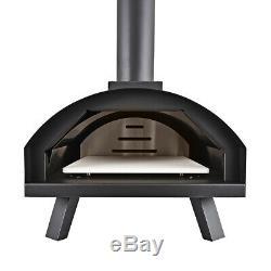 Charbon / Bois Fired Extérieur Four À Pizza Et Barbecue Pour Les Jardins Base De Pierre Portable
