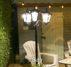 Chemin Extérieur De Sécurité De Poteau De Lampe De La Tête Led De Jardin Extérieur Noir De Jardin Extérieur De 2.1m