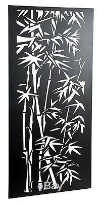 Clôture / Écran Bac En Acier Noir Merveilleux 1.8m Oriental De Bambou Grand Jardin Idéal